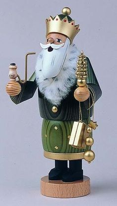 German Incense Smoker The 3 Wise Men - Balthasar - 22 cm / 8 inch - Authentic German Erzgebirge Smokers - KWO Christmas In Germany, German Christmas, Father Christmas, Christmas Crafts, Christmas Decorations, Christmas Ornaments, Holiday Decor, Three Wise Men, Nutcracker Christmas