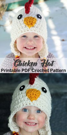 Make some cute Animal Hats. There are lots of cute animal hat Crochet Patterns to create. Crochet Animal Hats, Crochet Kids Hats, Crochet Beanie, Diy Crochet, Crochet Hooks, Childrens Crochet Hats, Crochet Baby Costumes, Crochet Gifts, Crochet Christmas Hats