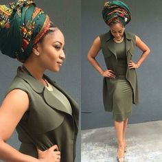 Beautiful collection of the best and most stylish ankara head wrap styles for women. These ankara scarfs are classic and trendy African Attire, African Wear, African Women, African Dress, African Inspired Fashion, African Print Fashion, Ethnic Fashion, Fierce, African Head Wraps