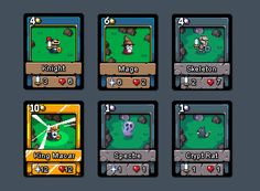 Game that involves cards #gamedev #pixelart but wouldn't call it a card game 「(°ヘ°) currently #prototyping