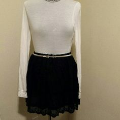 LACE SKIRT BLACK LACE SKIRT FULLY LINED VERTY Skirts Mini