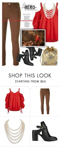"""""""You Are The Hero"""" by streetglamour on Polyvore featuring J Brand, DaVonna, Miss Selfridge, Miu Miu, Disney, WALL, BeautyandtheBeast and contestentry"""