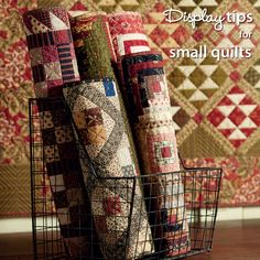 Display tips for small quilts from Jo Morton