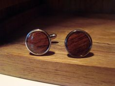 Vintage Mens Wood Inlay Cuff links Banana by AntiqueAlchemists, $15.00