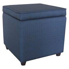 Target: upholstered storage ottoman, $25