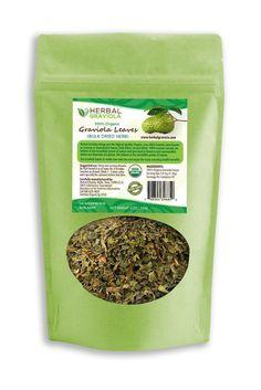 100% Organic Graviola (Soursop) Leaf Tea - Bulk leaves, Dried Cut & Sifted 4 oz bag