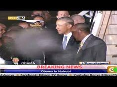 UFO NEWS - Latest UFO Sightings: Alien / Demon Walks In Front Of Camera As Obama Says Goodbye In Nairobi, UFO Sightings