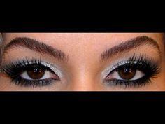 Maquiagem para festa: olho preto e branco e batom vermelho por Alice Salazar