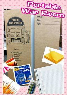 PORTABLE WAR ROOM Your own personal War Room A prayer closet is so important, but some of us do not have an extra closet/room. This put together space is easy to open to have for your personal time with God. And when you need to be done for that moment, fold-in the flaps and store somewhere safe. I bought all of my prayer tools at the Dollar Tree * Flipfold/Presentation board * Pens & Pencils * Clear tape * Paper tablets * Crayons * Post-it notes -Write down your prayer list and…