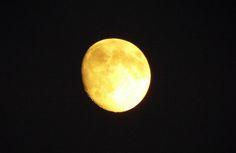 Yellow moon by Heitha  Geist