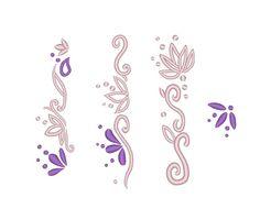 Floral Dress Edge Hem Designs Rapunzel Skirt Designs