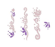 Floral Dress Edge Hem Rapunzel Dress Designs Skirt Sleeve Embroidery Machine Pattern Files  Designs made for the skirt of a Rapunzel costume or