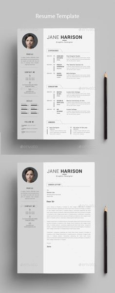 #Resume - Resumes #Stationery Download here: https://graphicriver.net/item/resume/18942225?ref=alena994