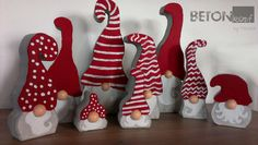 Wichtel aus Beton, Betonwichtel, Weihnachtsdeko, Gnom, Zwerg, Handgemachte Betondeko BETONkopf by Tascha, Geschenke, concrete gnome, concrete crafts, diy, christmas gnome elves