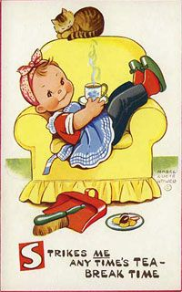 Vintage postcard: children's series