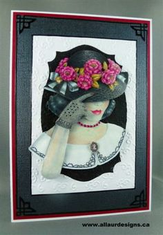 Lady with flowered hat - in 3D