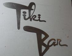 Tiki Bar Retro Mid Century Tike Decor Bar Decor | Etsy Bar Retro, Tiki Bar Signs, Basement Walls, Luau Party, Metal Signs, Metal Art, Retro Fashion, Mid Century, Free