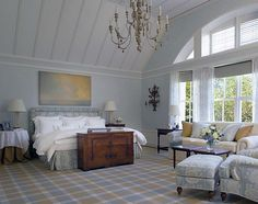 calming colors in this beautiful room designed by Cullman and Kravis