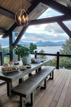 Timberbuilt travels to Kodiak, Alaska to build two oceanfront timber frame homes. Floor plans, photos, and details of the project. Timber Frame Homes, Timber House, Timber Frames, Alaskan Homes, Mountain Dream Homes, Mountain Living, Casa Top, Modern Lake House, House By The Lake