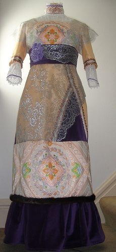 1912 Dress made for a Titanic Tea: Front