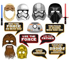 Star Wars VII inspired digital photo booth props Instant download
