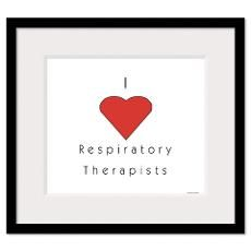 I love Respiratory Therapists Framed Print
