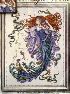 Mermaid - Sea Goddess by Joan Elliott Counted Cross Stitch Kit - Design Works US
