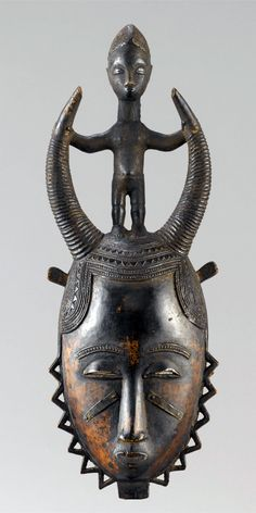 Africa | Mask from the Yaure people of central Ivory Coast | Wood