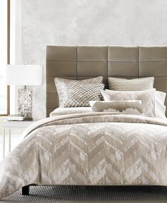 """Hotel Collection Distressed Chevron GOLD 110"""" x 96"""" King Comforter $535 #HotelCollection"""
