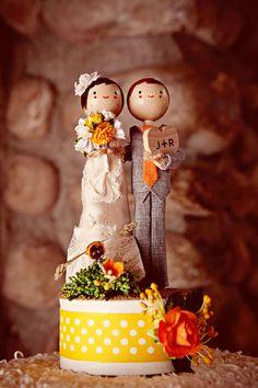 cake topper  #caketopper, #wedding, #rustic