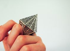 Ring | Theresa Burger. 'Hexagonal'.  Sterling silver. http://www.flickr.com/photos/tweebi/6426024365