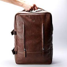 b5b91e99f3da Items similar to Brown Leather Laptop Backpack Men. Travel Rucksack
