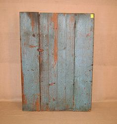 Wall Cupboard. Old powder blue paint. 1860.