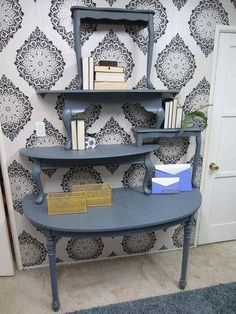 Amy Devers Home Made Simple project Shelving from tables via @MyFixitUpLife Family