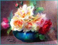au paradis des images - Page 2 Art Floral, Watercolor Artwork, Watercolor Flowers, Portraits Pastel, Art Aquarelle, Still Life Art, Rose Art, French Art, Beautiful Paintings