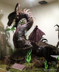 Maleficent chocolate sculpture WOW... the Sleeping Beauty Dragon  In Chocolate!!  Dang!
