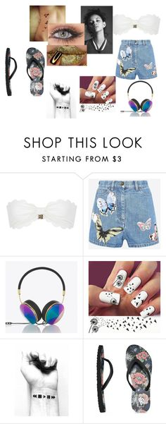 """We're at the car wash (Glee)"" by cutegurl112 ❤ liked on Polyvore featuring Marysia Swim, Valentino, Frends and Vans"