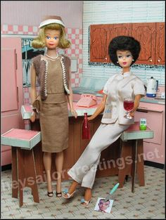 1960's Midge and Barbie in Tammy's Kitchen by Hey Sailor Greetings