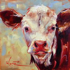 Contemporary Cow, oil, Olga Wagner