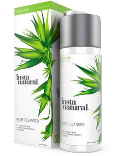 InstaNatural Acne Face Wash – With Salicylic Acid – Best Cleanser Treatment for Smooth Complexion