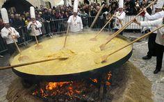 Giant Omelette Celebration, Abbeville, Louisiana. Nov 2-3
