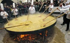 Giant Omelette Celebration, Abbeville, Louisiana. Nov 2-3