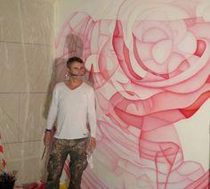 A voir ! Guillaume Bottazzi a réalisé une fresque de 3m50 x 3m80 rue Edouard Herriot dans le quartier du Prado à Marseille.