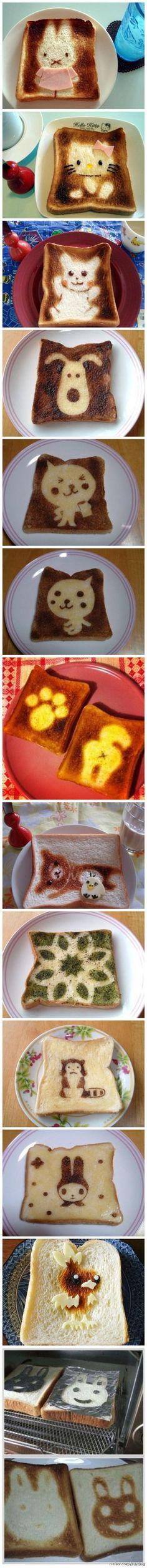 ¡Tostadas para #niños! ¡Dan pena comerlas de lo bonitas que son! #TostadasGenius…