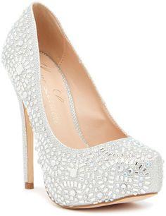Lauren Lorraine Vanna 2 Sparkle Platform Pump fashion girl women shoe high hill tacchi alti