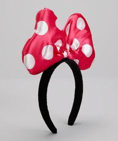 Look at this #zulilyfind! Hot Pink Polka Dot Bow Headband #zulilyfinds