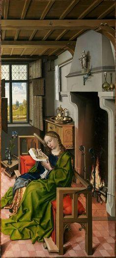 """Santa Barbara"", Robert Campin, 1438. Museo Nacional del Prado, Madrid"