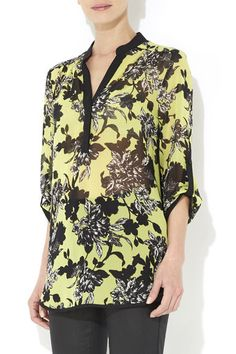 Lime Floral Shirt