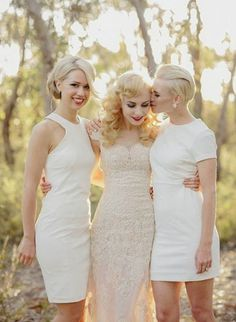 Witte jurken voor je bruidsmeisjes #bruiloft #trouwen #bruidsmeisjes | ThePerfectWedding.nl