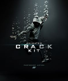 Gif Animated Crack Kit Photoshop Action - Photo Effects Actions